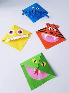 Origami Für Anfänger : diy lesezeichen monster tiere herz eck lesezeichen ~ A.2002-acura-tl-radio.info Haus und Dekorationen