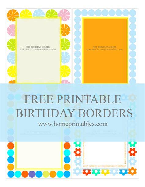 Fun Designs: Free Birthday Borders for Invitations Home