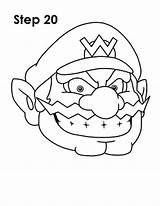 Wario Draw Drawing Nintendo Step Hat sketch template