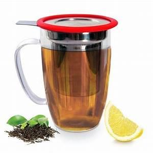 Mug Infuseur Thé : mug avec infuseur tastea 450ml rouge yoko design kookit ~ Teatrodelosmanantiales.com Idées de Décoration