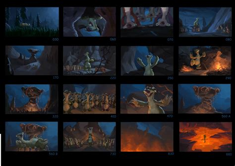 storyboards  ice age
