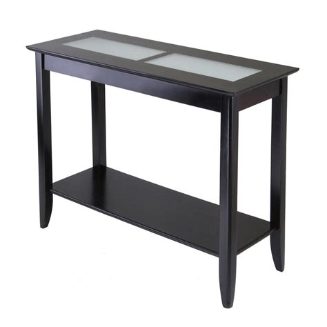 sofas tables and more shop winsome wood syrah console table at lowes com