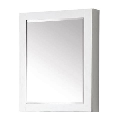 medicine cabinet white avanity transitional 30 in l x 24 in w framed wall