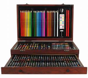 Creative Gift 138 Piece Complete Wooden Art Box Set for ...