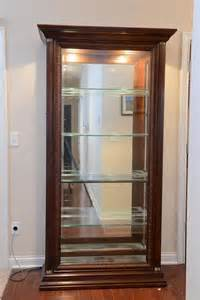 Wood Curio Cabinet with Glass Doors