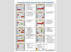 Framingham School Committee Approves 201718 Calendar With