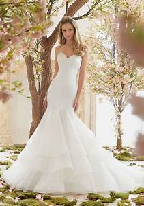 extravagant duchess satin and organza wedding dress morilee With organza wedding dress