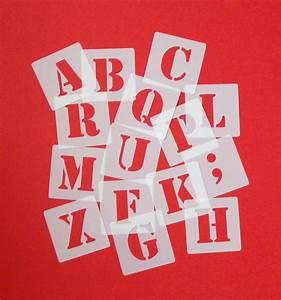 Schablonen Für Die Wand : abc schriftschablonen 4cm hoch set 30 einzelne schablonen buchstaben zeichen ebay ~ Watch28wear.com Haus und Dekorationen