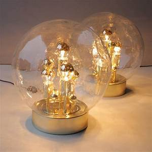 Pair of doria gold globe table lights for sale at 1stdibs for Gold globe floor lamp