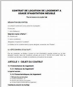 bail immobilier meuble immobilier en image With contrat location saisonniere meublee