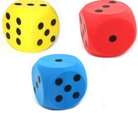 metal glass end table 3 package of foam dice 3 colours dice with