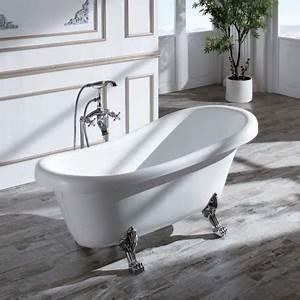 Petite Baignoire Retro : baignoire acrylique blanc prague baignoire ilot ovale ~ Edinachiropracticcenter.com Idées de Décoration