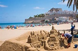Sand Castel In Peniscola, Spain Editorial Photo - Image of ...