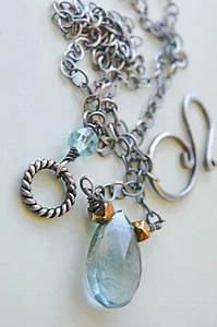 Moss Aquamarine necklace Neon Apatite Labradorite Camp