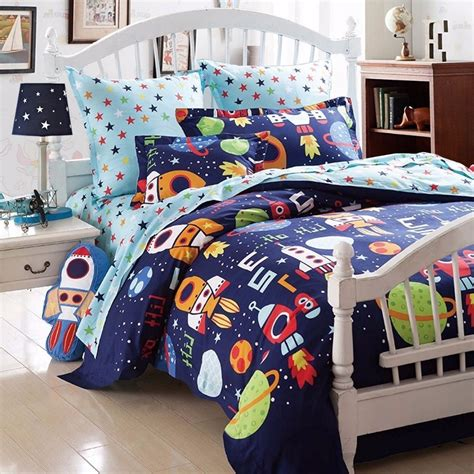 Boy Bedding by Boys Bedding Sets Space Adventure Bedding Set 100 Cotton