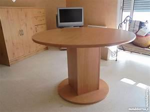 Table Ronde Avec Rallonge : table ronde rallonge pied clasf ~ Teatrodelosmanantiales.com Idées de Décoration