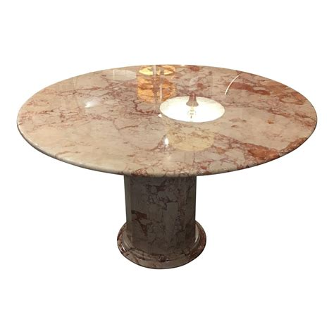 cream marble dining table 48 quot round pink and cream marble dining table with pink and