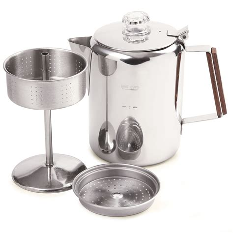 norpro 549 stainless steel percolator coffee pot 9 cup ebay