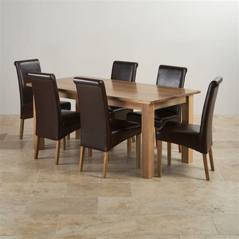 oak dining table chairs contemporary dining set in natural oak 6ft table 6 chairs