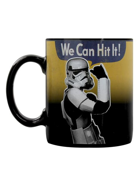 Like your day, the ceramic mug starts out dark and empty. Original Stormtrooper We Can Hit It Heat Changing Mug ...