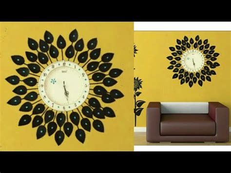 diy floral designer wall clockdiy wall clockwall decor