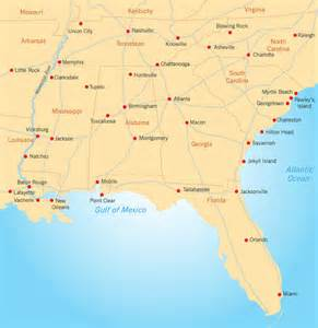 Deep South Mississippi Map