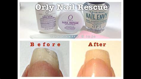 orly rescue nail repair   crafty ninja youtube