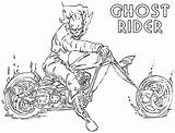 Rider Ghost Coloring Pages Cool Ghostrider Cartoon Grundy sketch template