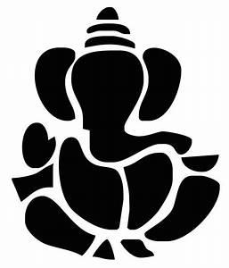 Studio Briana Black Lord Ganesha In Block Art Wall Decal