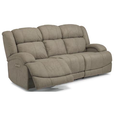 power reclining sofa with usb ports flexsteel latitudes declan casual power reclining sofa