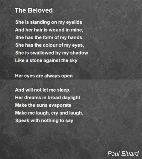 beloved poem  paul eluard poem hunter