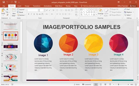 animated polygon infographic template  powerpoint