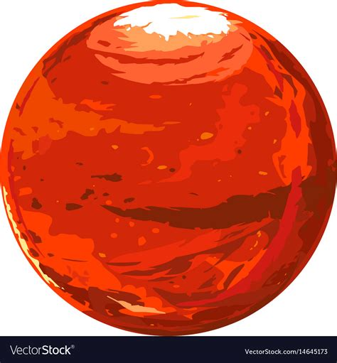 Mars Clipart One Planet Mars Royalty Free Vector Image