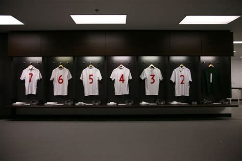 england shirts   wembley changing rooms pictures