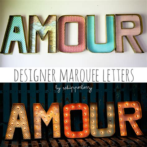 designer marquee letters with lights whipperberry