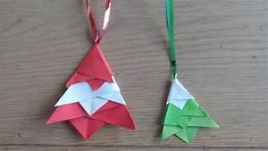 Origami Facile Noel : origami facile d coration sapin de no l christmas tree ~ Melissatoandfro.com Idées de Décoration