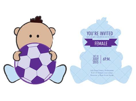 soccer baby shower baby shower invite football soccer theme on behance