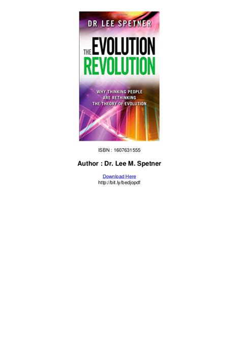the evolution revolution why thinking people are