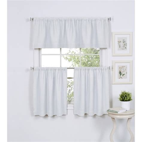 Kitchen Window Curtains Walmart by Walmart Better Homes Kitchen Curtains Apple Swag Blue And
