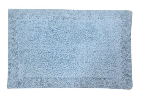 blue and white bathroom rugs castle hill napoli 100 cotton reversible bath rug 7927