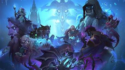 Hearthstone Warcraft Throne Knights Heroes Wallpapers Frozen