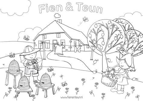 Kleurplaat Fien En Teun by Fien En Teun Kleurplaat Kleurplaten Kidsclub Schouwburg