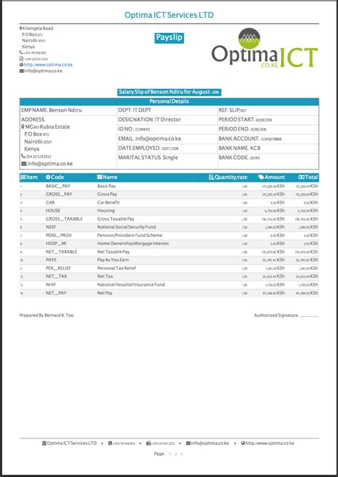 The wrong data on the payslip can prompt numerous confusions. Professional Payslip Templates | www.optima.co.ke
