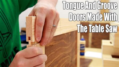 making tongue  groove doors   table