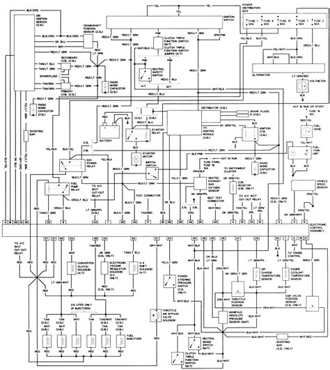 1989 Ford Ranger Starter Wiring Diagram by 1986 Ford Ranger 2 9 Manual Just Bought As A No Start