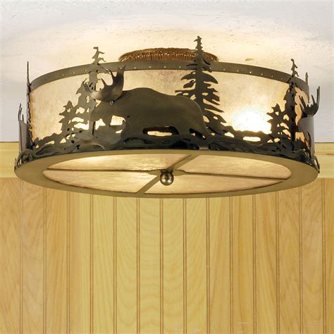 meyda 51095 moose at dusk country antique copper