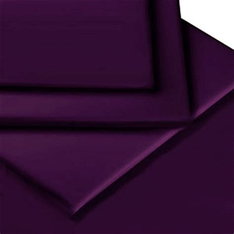 aubergine purple colour percale mattress flat sheet