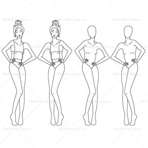 female fashion croquis templates templates  fashion