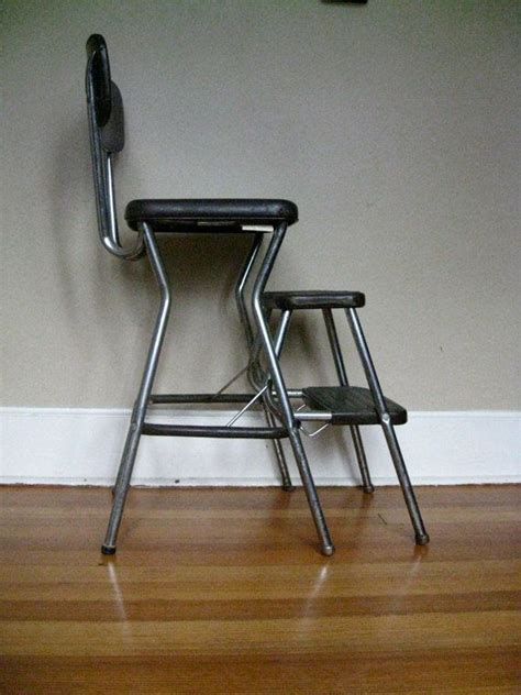 Cosco Chair Step Stool Black by Vintage Brown Cosco Step Stool Ladder Seat