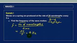 Calculating frequency and speed of a wave - YouTube